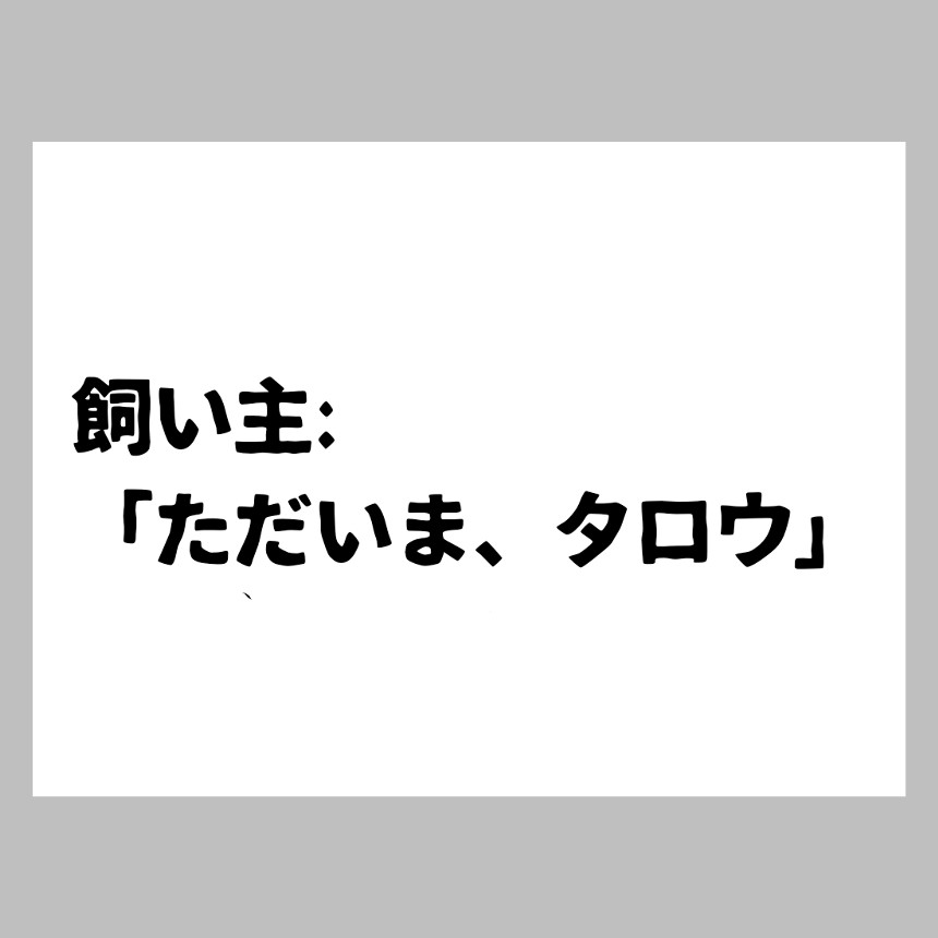 ただいま(2ページ目)